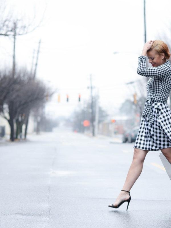 Fashionably Lo DVF Gingham Wrap Dress 17 of 19