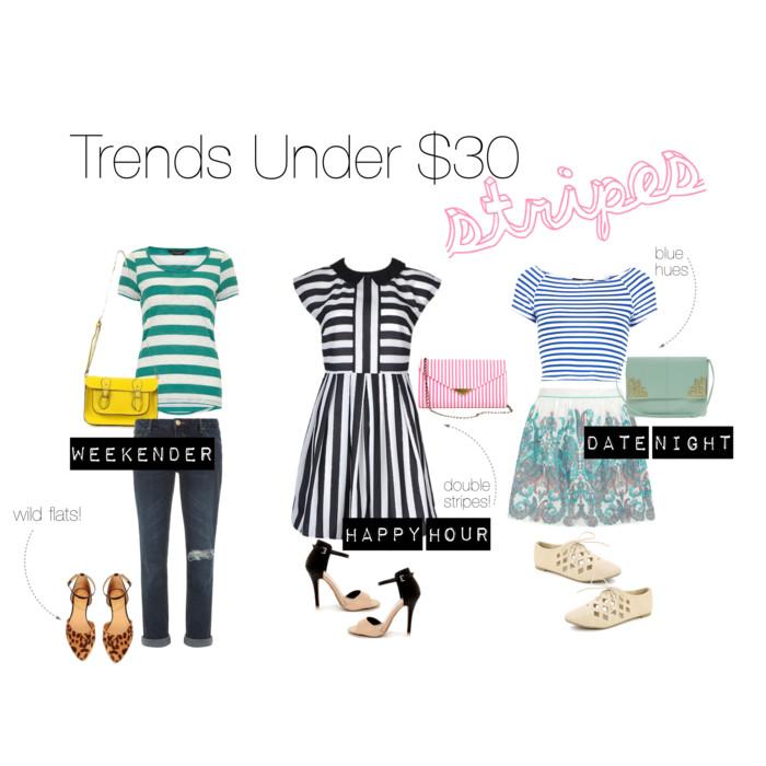 Trends Under $30: Stripes