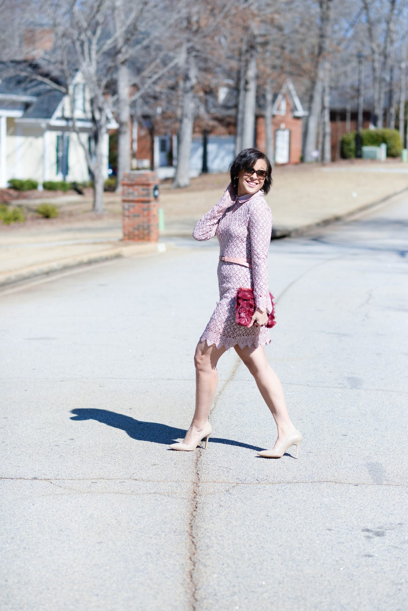 Pink Lace Lauren Elyce Atlanta Fashion Lifestyle Blog