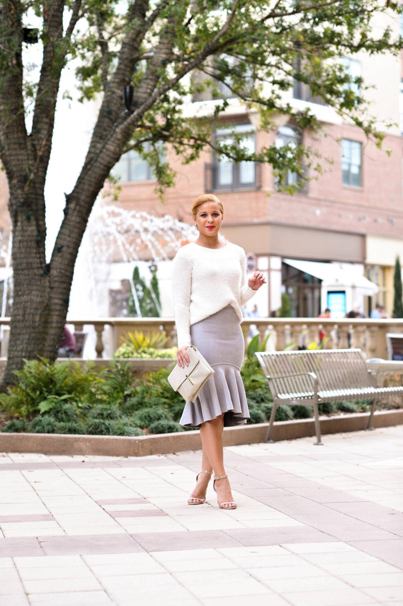 The Perfect Grey Peplum Skirt