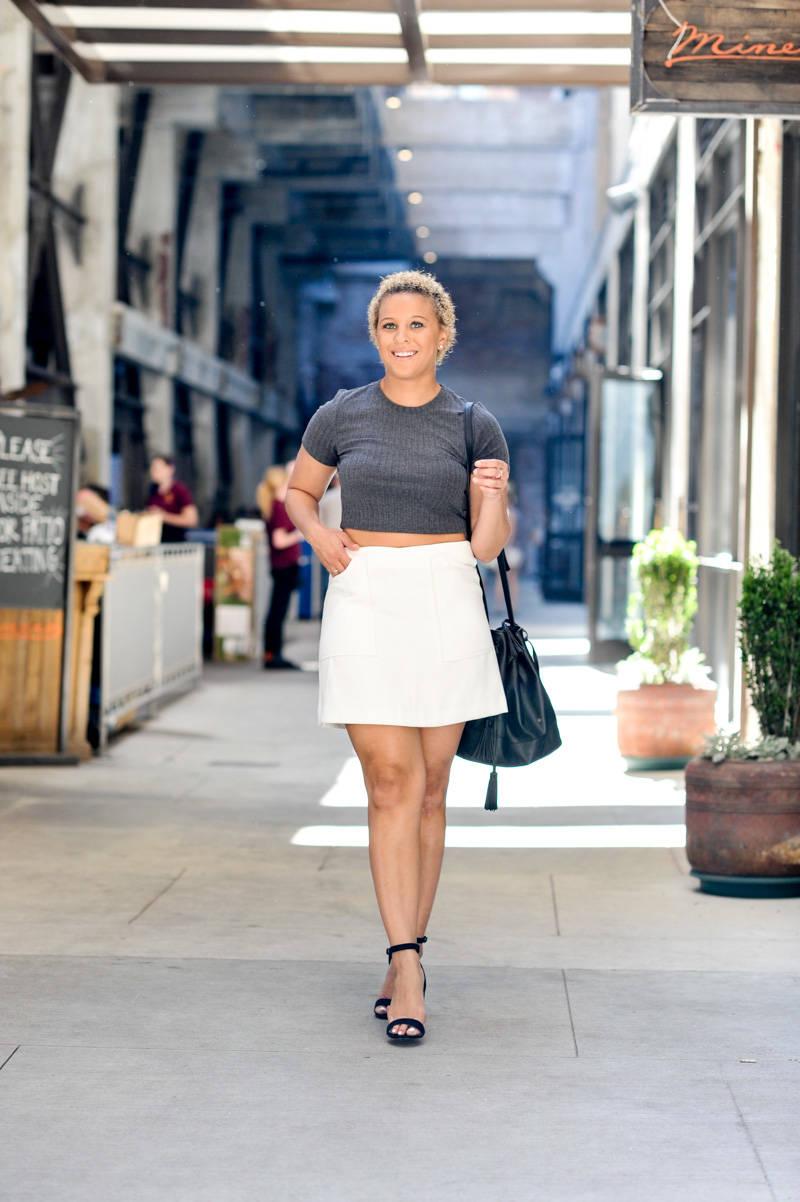 Crop Top + Mini Skirt