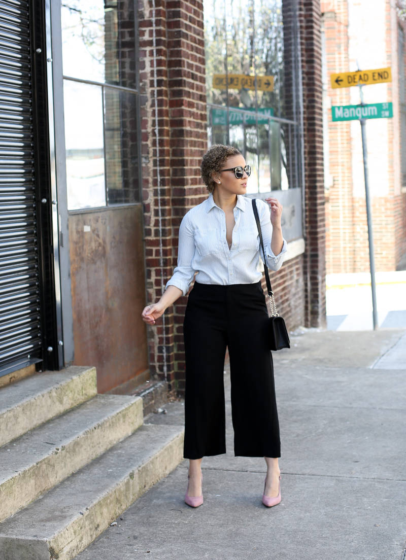 Styling Black Culottes for Spring