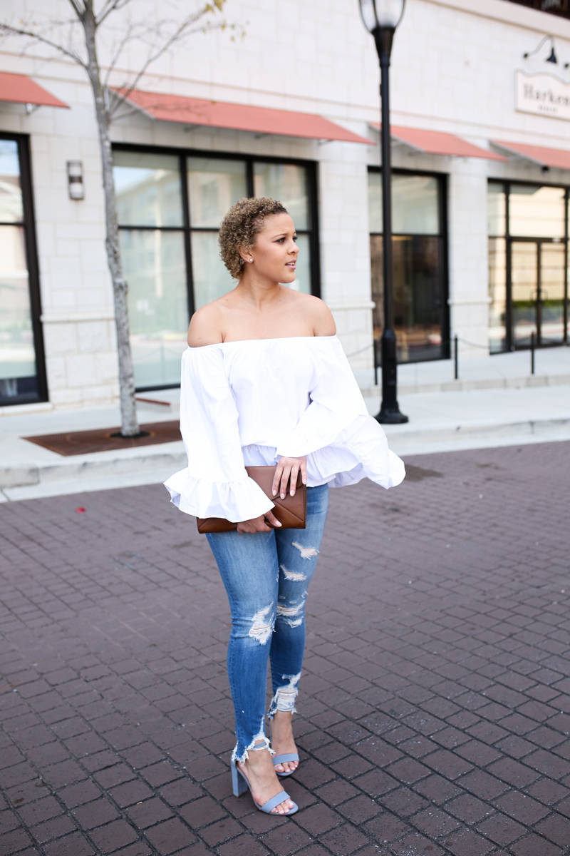 The Perfect White Off Shoulder Top for Spring