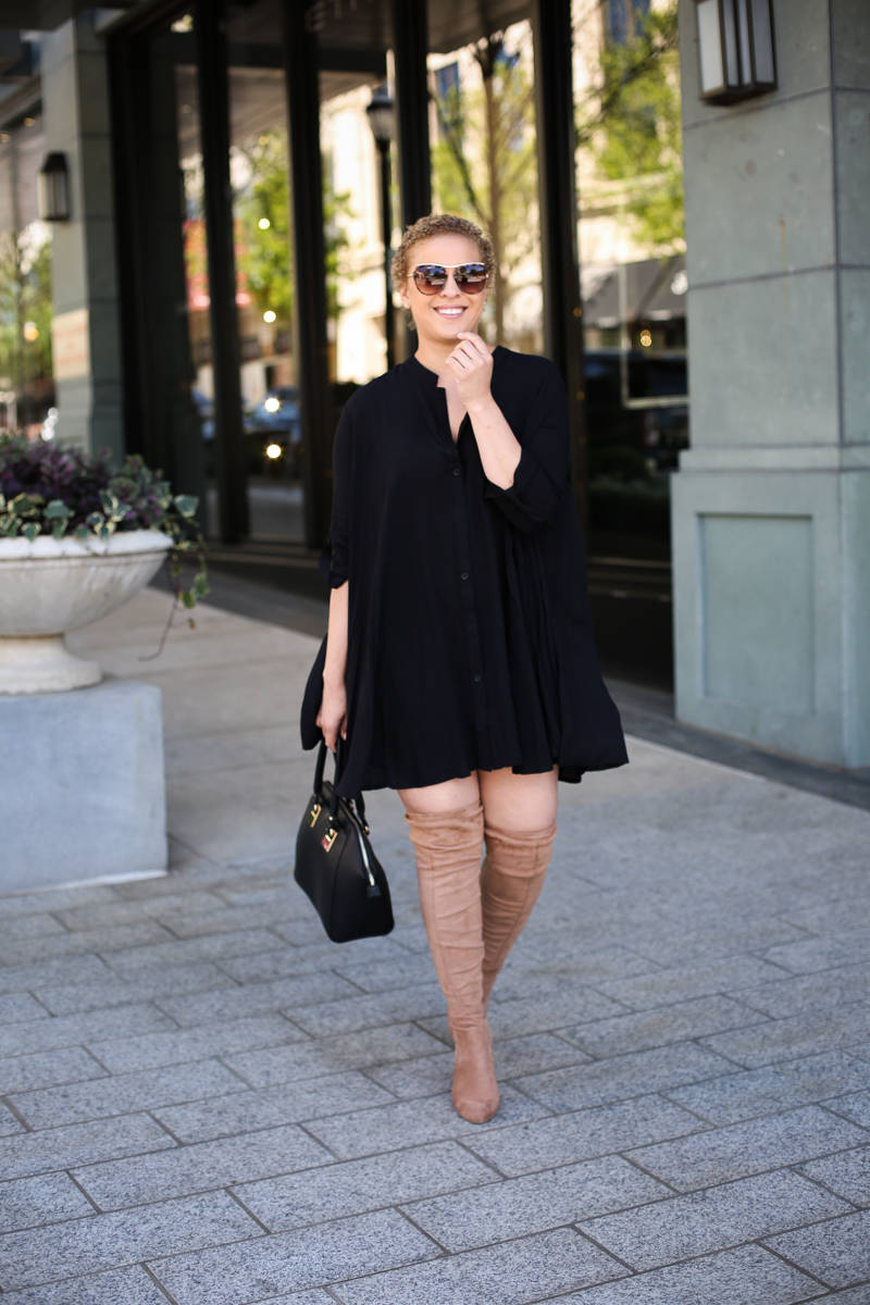 Black Swing Dress for Spring