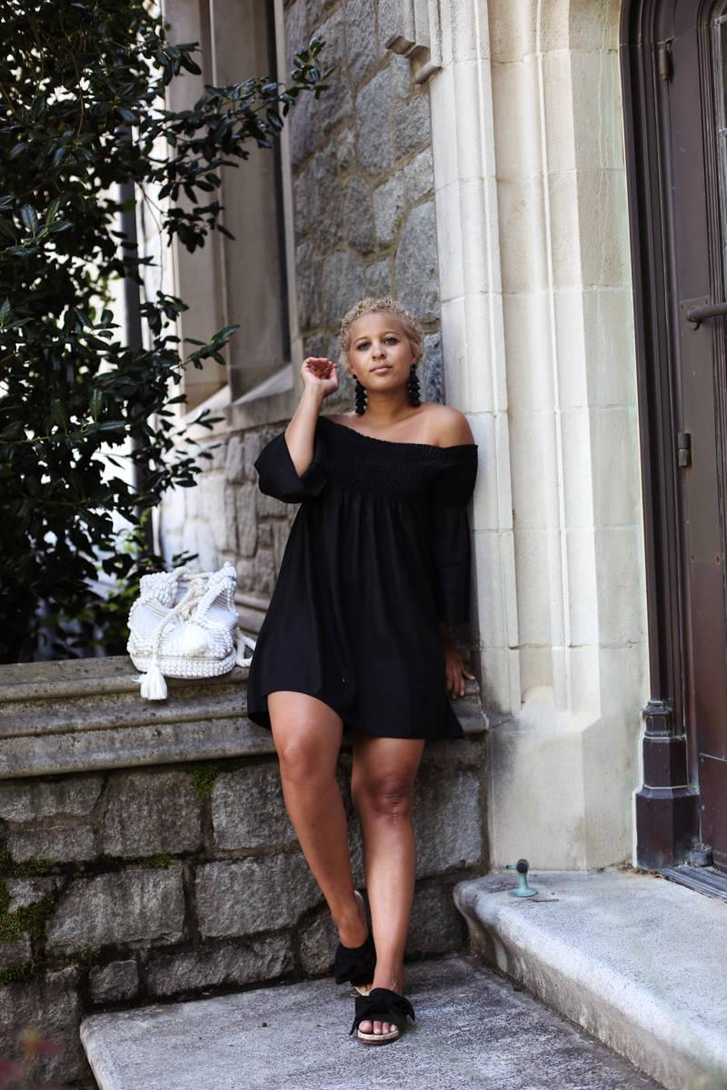 Little Black Off Shoulder Dress