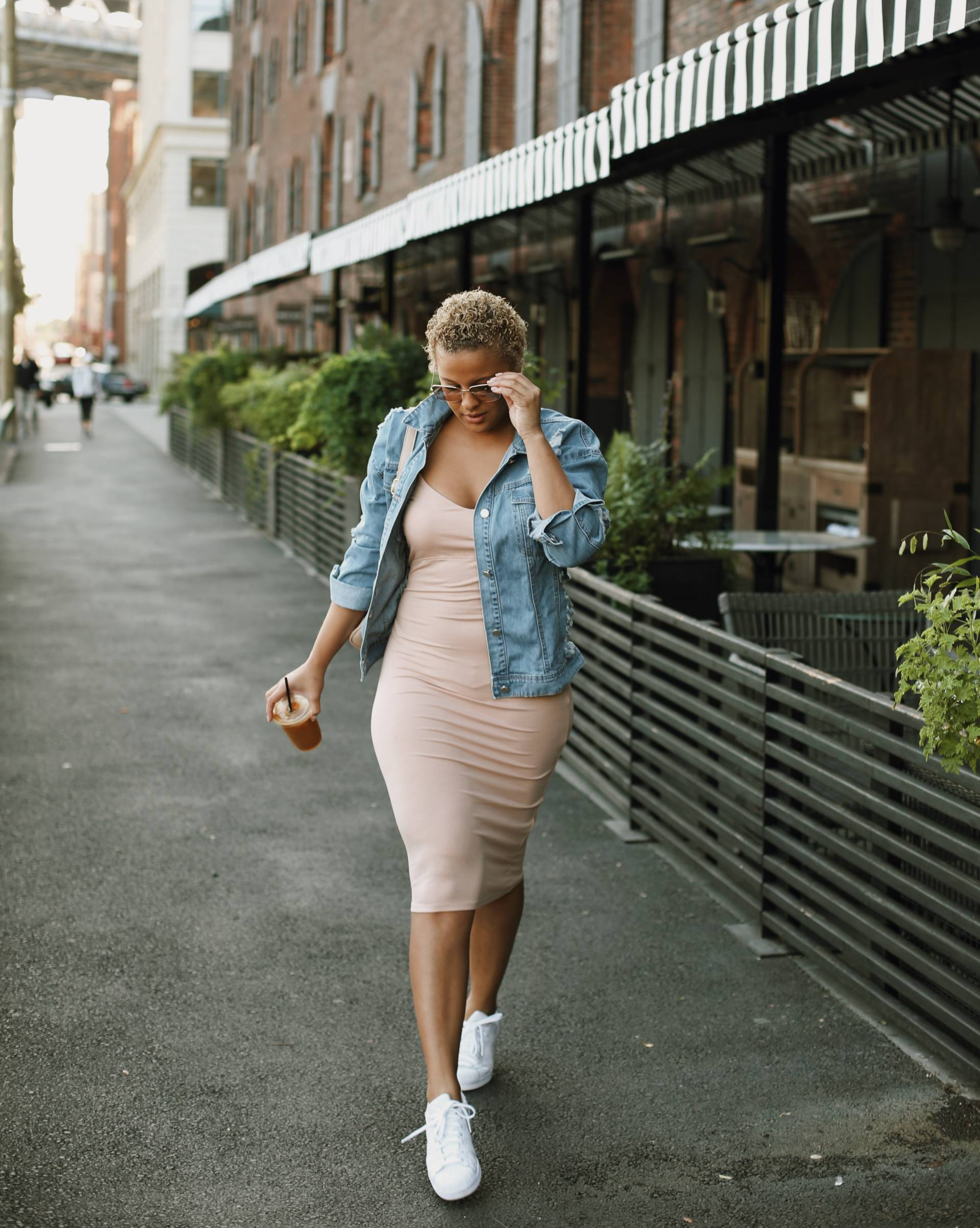 ffdbd966432 ... pair a dress with adidas to take things up a notch. Read on for a few  tips for achieving that cool girl look and shop a few of my fave combos  below!