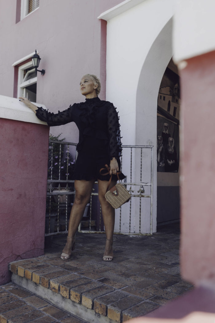 Little Black Romper in Bo Kaap